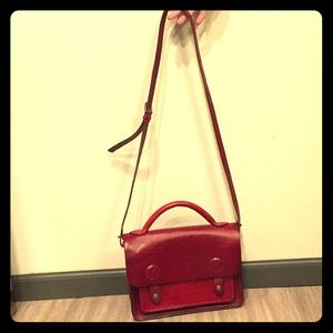 Handbags - Red REAL LEATHER purse